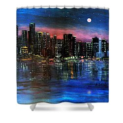 Boston At Night Shower Curtain