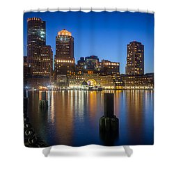 Boston Blues Shower Curtain