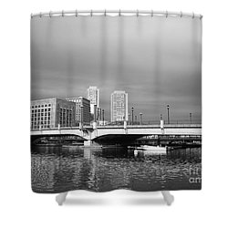Boston Bridge Shower Curtain by Barbara Bardzik