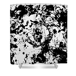 Boston Celtics 1d Shower Curtain by Brian Reaves