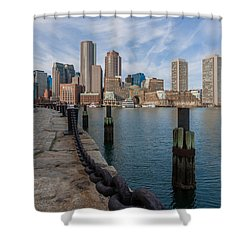 Boston Cityscape From The Seaport District 3 Shower Curtain