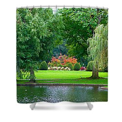 Boston Common Study 3 Shower Curtain