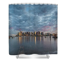 Boston From Carletons Whahrf Shower Curtain