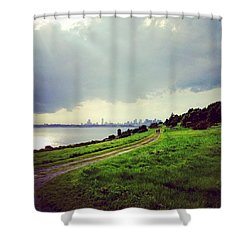 Boston From Spectacle Island Shower Curtain