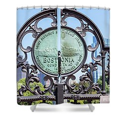 Boston Garden Gate Detail Shower Curtain