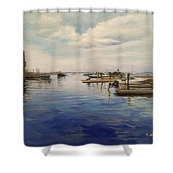Boston Harbor Shower Curtain by Rose Wang