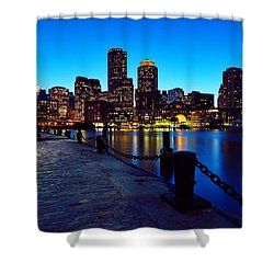 Boston Harbor Walk Shower Curtain by Rick Berk