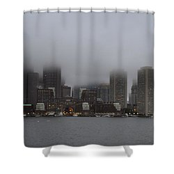 Boston In The Fog Shower Curtain
