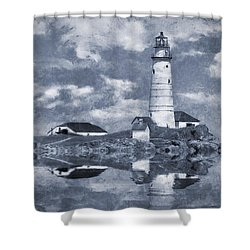 Shower Curtain featuring the photograph Boston Light  by Ian Mitchell