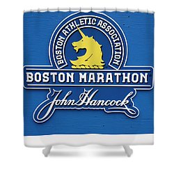 Shower Curtain featuring the photograph Boston Marathon - Boston Athletic Association by Joann Vitali