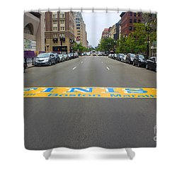 Boston Marathon Finish Line Shower Curtain