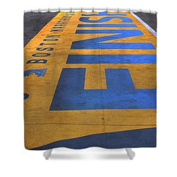 Boston Marathon Finish Line Shower Curtain by Joann Vitali