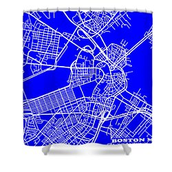 Boston Massachusetts City Map Streets Art Print   Shower Curtain by Keith Webber Jr