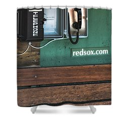 Boston Red Sox Dugout Telephone Shower Curtain