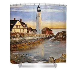 Boston Rocky Coast Shower Curtain