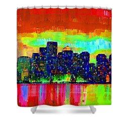 Boston Skyline 103 - Pa Shower Curtain