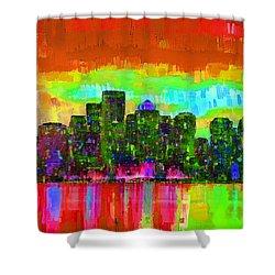 Boston Skyline 108 - Pa Shower Curtain
