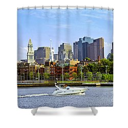 Boston Skyline Shower Curtain by Elena Elisseeva