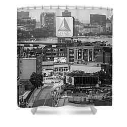 Boston Skyline Photo With The Citgo Sign Shower Curtain