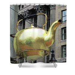 Boston Tea Pot Shower Curtain