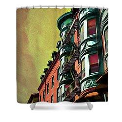 Boston's Famous North Square Shower Curtain
