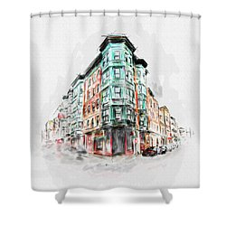 Bostons North End 222 1 Shower Curtain