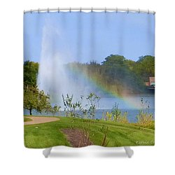Botanic Rainbow Shower Curtain by Kathie Chicoine