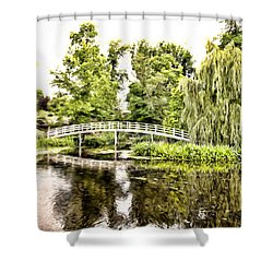 Botanical Bridge - Monet Shower Curtain