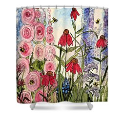 Botanical Wildflowers Shower Curtain