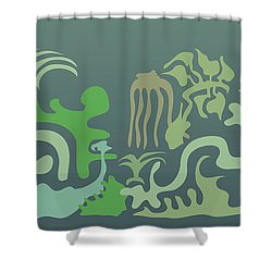 Botaniscribble Shower Curtain