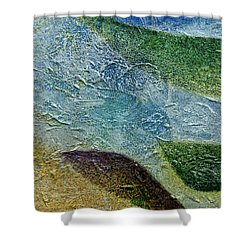 Shower Curtain featuring the painting Botany I by John Hansen