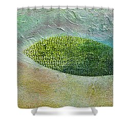 Shower Curtain featuring the painting Botany II by John Hansen