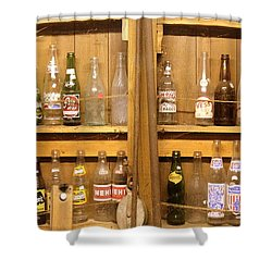 Botellas Antiguas Shower Curtain by Ed Smith