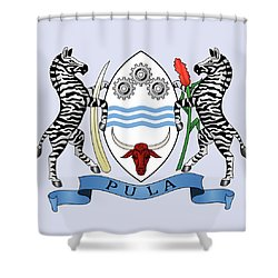 Shower Curtain featuring the drawing Botswana Coat Of Arms by Movie Poster Prints