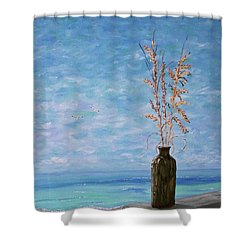Bottle And Sea Oats Shower Curtain