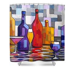 Bottle Of Wine Shower Curtain