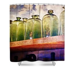 Shower Curtain featuring the photograph Bottle Row by Marty Koch