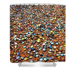 Bottlecap Alley Shower Curtain by David Morefield