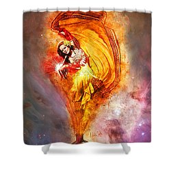 Shower Curtain featuring the digital art Bottled Wishes by Nikki Marie Smith