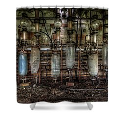 Shower Curtain featuring the digital art Bottles Hanging On The Wall  by Nathan Wright