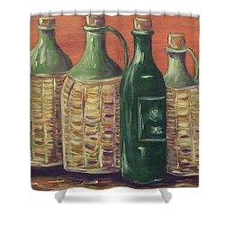 Bottles Shower Curtain