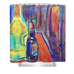 Bottles-still Life  Shower Curtain