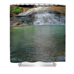 Bottom Of Falls Shower Curtain