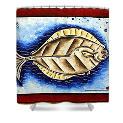 Bottom Of The Sea Creature Original Madart Painting Shower Curtain by Megan Duncanson