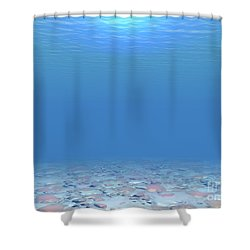 Shower Curtain featuring the digital art Bottom Of The Sea by Phil Perkins