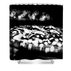 Bottom Side Of Glass Tumblers Shower Curtain