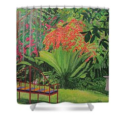 Bougainvillea Garden Shower Curtain