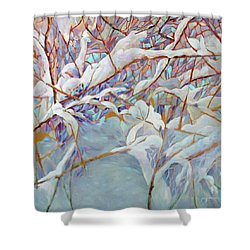 Shower Curtain featuring the painting Boughs In Winter by Joanne Smoley