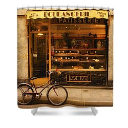 Boulangerie And Bike Shower Curtain