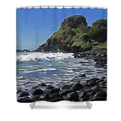 Boulder Beach Shower Curtain by Dennis Cox WorldViews